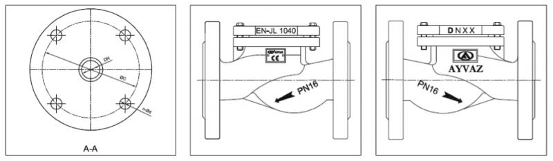 фланцевый клапан CLV 50 в